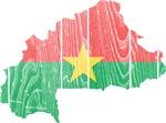 Burkina Faso Flag And Map