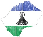 Lesotho Flag And Map