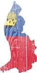 Liechtenstein Flag And Map