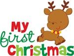 Santa Reindeer Babies 1st Christmas