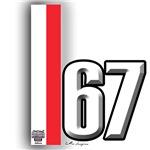 67 Red White
