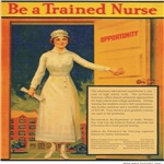 Vintage nurse recruiting poster