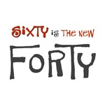 Sixty is the new forty 60th birthday funny t-shirt