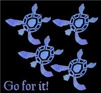Blue Baby Sea Turtles