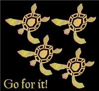 Golden Baby Sea Turtles