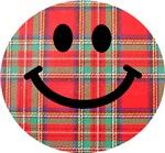 Scottish Tartan Smiley
