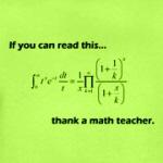 Thank A Math Teacher