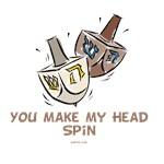 Funny Head Spin Dreidel Hanukkah