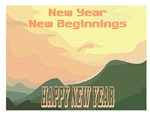 New Beginnings Jewish New Year Cards