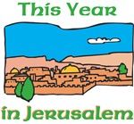 Jerusalem Jewish New Year Greeting Card