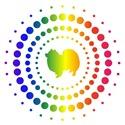 American Eskimo Rainbow Studs
