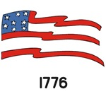1706 Flag Abstract 1776