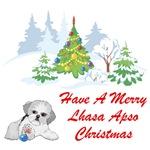Christmas Lhasa Apso
