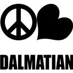 Peace Love Dalmatian
