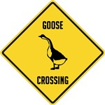 Goose Crossing Sign
