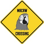 Macaw Crossing Sign