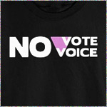 No Vote No Voice (Pink Triangle)