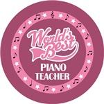 PIANO TEACHER (Worlds Best) T-SHIRT GIFTS