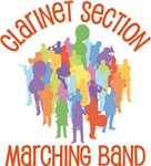 Clarinet Marching Band Collage Tee shirts