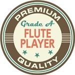 Flute Player T-shirts (Premium Quality)