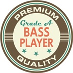 Bass Player Music T-shirts (Premium Quali
