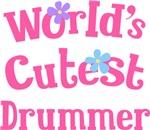 Worlds Cutest Drummer T-shirt Gifts