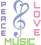 Peace Love Music T-shirts