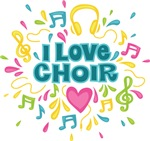 I Love Choir Music Tees and Gift Items