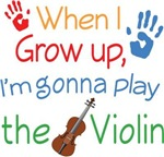 Future Violin Player Kids Tees