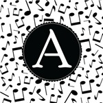 Music Monogram Letter A Gifts