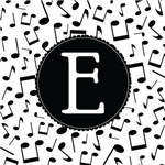 Music Monogram Letter E Gifts