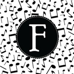 Music Monogram Letter F Gifts