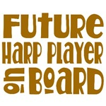 Future Harp Player Maternity tees