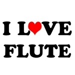 I Love Flute T-shirts and Gifts