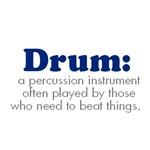 Funny Drum Design T-shirts