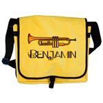 Personalized Trumpet Music Tote Bags
