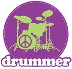 Retro Drummer Tee Shirt Apparel