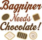 Bagpipe Chocolate Humor Music T-shirts