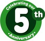 5th Anniversary Green Gift T-shirts