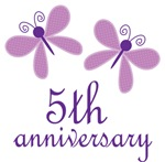 5th Anniversary Gift Purple Butterfly