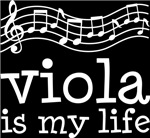 Viola is My Life Music Staff Gifts and Shirts