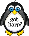 Harp Music Penguin T-shirts and Gifts