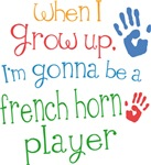 Future French Horn Player Kids T-shirts