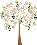 Music Tree Treble Clef T-shirts