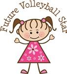 Future Volleyball Star Girls T-shirts