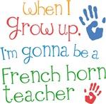 Future French Horn Teacher Kids Music Shirts