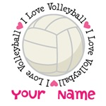 Personalized I Love Volleyball Tees and Gifts