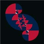 Fibonacci Red White Blue II