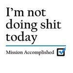 Im Not Doing Sh*t Today