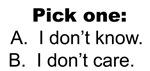 Pick One: